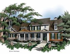 Eplans Country House Plan - Sun-Country Splendor - 4457 Square Feet and 4 Bedrooms(s) from Eplans - House Plan Code HWEPL04708