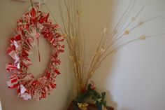 Fabric Strip Wreath