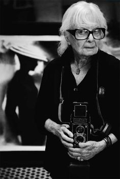 Lillian Bassman holding a rolleiflex .what a cool lady. Her signature style, once described by Richard Avedon as making 'visible that heart-breaking invisible place between the appearance and the disappearance of things'. An Inspiration to us all. Robert Mapplethorpe, Robert Doisneau, Diane Arbus, Ellen Von Unwerth, Gordon Parks, Annie Leibovitz, Helmut Newton, Paolo Roversi, Richard Avedon