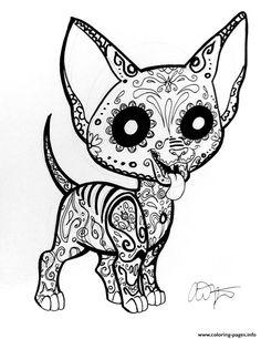 print car sugar skull cute coloring pages