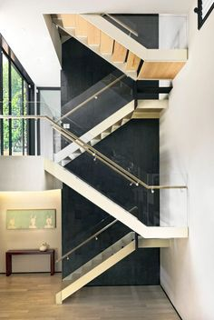 love the simple stair and the contrasting grey textured stone_Casa CorMAnca by Paul Cremoux Studio