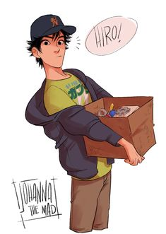 big hero 6 was such a cute film and i just saw this pic of Hiro and I'll probably start crying if a second part comes out Disney Pixar, Disney Memes, Disney Fan Art, Disney And Dreamworks, Disney Animation, The Big Hero, Hiro Big Hero 6, Big Hero 6 Tadashi, Big Hero 6 Comic