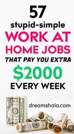 A Customer's Guide To Herbal Dietary Supplements On The Net 57 Stupid-Simple Work At Home Jobs That Pay You Extra 2000 Every Week. Cash From Home, Online Jobs From Home, Earn Money From Home, Earn Money Online, Online Work, Online Earning, Making Money From Home, Win Online, Online Income