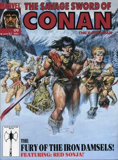 Savage Sword of Conan #179 (November, 1990). Cover by Earl Norem.