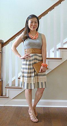 #shopruche dress #madewell clutch #clarks wedges #loveobsessed necklace #groopdealz bracelet