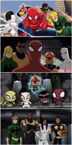 Ultimate Spider-Man: Nova, Iron Fist, White Tiger, Powerman and Spiderman