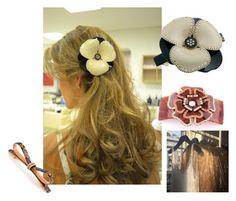 mcdavidian hair barrettes France! Alexandre Flower Camelia hiar clips! by shambalaparadise-21 on Polyvore featuring мода