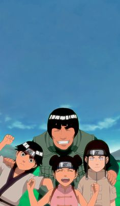 Equipe 9 might guy rock lee tenten neji Naruto Kakashi, Naruto Shippuden Sasuke, Anime Naruto, Naruto Teams, Wallpaper Naruto Shippuden, Naruto Cute, Naruto Wallpaper, Otaku Anime, Team Wallpaper