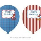 These sweet birthday balloons are great for a nautical theme classroom. The balloons measure approximately 4.5 inches wide by 6 inches tall. Print...