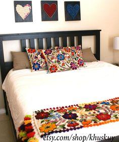 Corredor de Mesa o cama Bordado a Mano