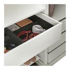 IKEA - KOMPLEMENT, Schale, , Erleichtert das Ordnen von Kleidung und Accessoires im Schrank.Weicher Filz schützt Kleidung und hält sie am Platz.