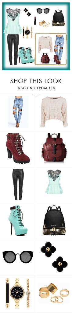 """""""mery"""" by mery66 ❤ liked on Polyvore featuring Boohoo, Nine West, Kenneth Cole Reaction, MuuBaa, City Chic, MICHAEL Michael Kors, Quay, Tory Burch, Style & Co. and Pieces"""