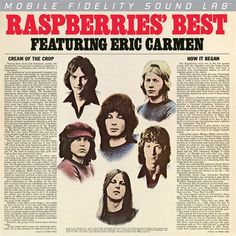 The Raspberries - The Raspberries Best on Numbered Limited Edition Red-Colored Vinyl LP from Mobile Fidelity Silver Label