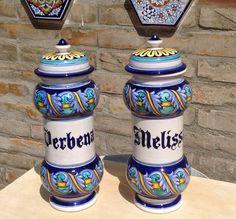 Le Ceramiche di Giorgia Vasi da farmacia Melissa e Verbena