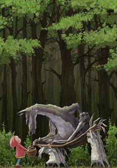 Красная шапочка энд серый волк — Работа №75 — Портфолио фрилансера Александр Родионов (AlexRodionov)