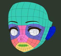 由 quappa-el (@quappael) | Twitter 提供的媒体推文 3d Model Character, Character Modeling, Game Character, Blender 3d, 3d Modellierung, Face Topology, Human Face Drawing, Maya Modeling, 3d Mesh