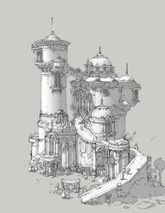 建筑, 豆 芽 on ArtStation at https://www.artstation.com/artwork/W9eON