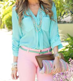 Pink n Turquoise ,,Imagine so go together,,,