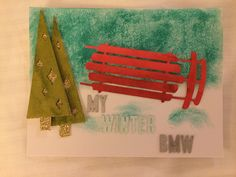 Stampin' Up! demonstrator Steven Z's project showing a fun alternate use for the Watercolor Winter Simply Created Card Kit.