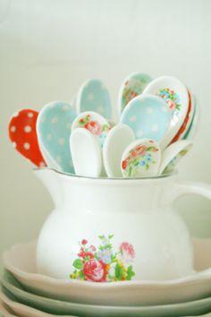 Rose Crock and spoons #Ceramic  Coco Rose Diaries