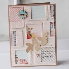 You Make My Heart Smile Card by Betsy Veldman for Papertrey Ink (January 2013)
