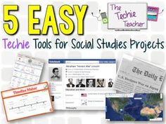 5 EASY Techie Tools for Social Studies Projects5 EASY Back to School Technology Projects