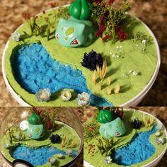 Bulbasaur is the first grass starter, always a favorite! And a cutie! #etsy #etsyshops #etsyseller #Pandanimity #Pokemon #pokerarium #pokeball #pokemonterrarium #pokeballterrarium #terrarium #handmade #diorama #pokeballdiorama #pokemondiorama #bulbasaur