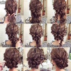 summer wedding hairstyles for medium length hair frisuren haare hair hair long hair short Up Dos For Medium Hair, Medium Hair Styles, Curly Hair Styles, Updos For Medium Length Hair Tutorial, Curly Updos For Medium Hair, Prom Hair Medium, Curly Short, Short Hair Prom Styles, Short Curly Hair Updo