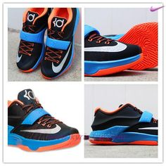 Christmas KDVII 038 Nike KD 7(VII) Nero Navy Rosso Oro Uomo