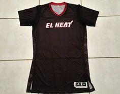 NWOT Authentic ADIDAS Miami Heat El Heat Blank NBA Jersey Men's 3XL Tall #adidas #MiamiHeat