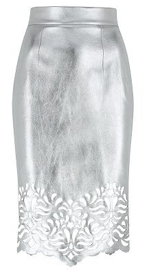 South Molton St Style: [Craving] Marks and Spencer's Silver Laser Cut Skirt