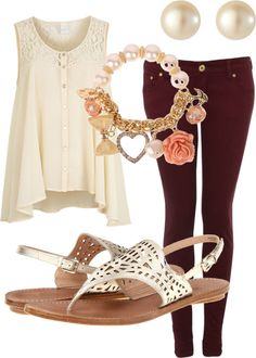 """""""maroon pants"""" by lduffy on Polyvore"""