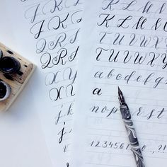 I've recently redesigned all of my calligraphy practice sheets, so this is my holiday present for all of you. Simply choose your favorite alphabet and get started with pen and ink!
