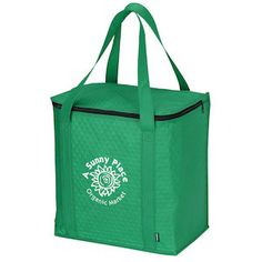 Put a fresh mix on your advertising efforts with a reusable logo grocery tote!