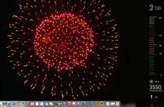 Vuurwerk met decibel meter