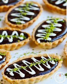 Çikolatalı ve kahveli mini tart