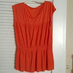 Sleeveless Orange peplum top Preloved orange sleeveless top. Very good condition. Merona Tops Blouses