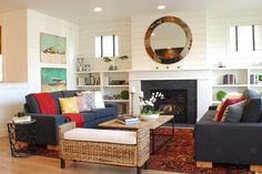 Farmhouse Living Room Design, Pictures, Remodel, Decor and Ideas - page 4