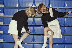 Jon Gorrigan for the Guardian Beth and Nicole both wear sweatshirts #sporty #sportswear #style