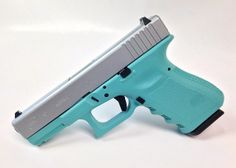 Another firearm to enter our Tiffany Blue Collection! The Glock 19 Gen3 9mm handgun with a stainles steel colored slide and Tiffany Blue frame! - www.tzarmory.com