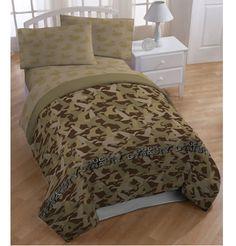 Duck Dynasty Camouflage Comforter #BedroomDecor #DuckDynasty