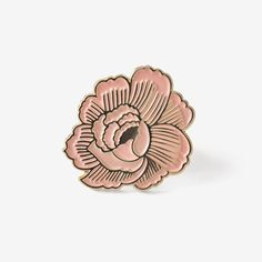 Floral flair for all! ‣ enamel pin + post card, printed front and back ‣ pin is 1 inch, card is 4 by 6 inches ‣ packed in a cello sleeve with pin f...