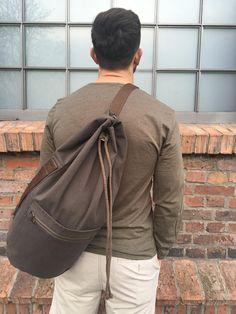 Leather Duffle Bag, Duffel Bag, Photo Backpack, Japan Bag, Diaper Bag, Ash Brown, Denim Bag, Fabric Bags, Summer Bags