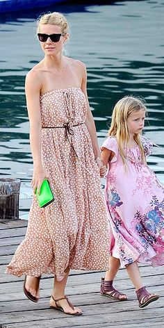 Gwyneth Paltrow and daughter, Apple.