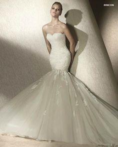 MORE INFO: Pronovias San Patrick Bridal Gown RINCON  http://www.trudysbrides.com/Pronovias-Bridal-Gowns.asp
