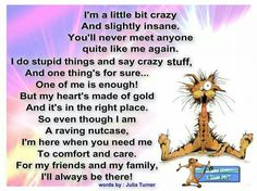 Crazy or not,  I'm always there...