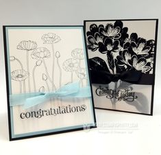 Stampin' Up! Pleasant Poppies Congrats Card - Stampin' Up! Demonstrator - Mary Fish, Stampin' Pretty Blog, Stampin' Up! Card Ideas & Tutorials