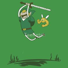 A Hero; Adventure Time/Legend of Zelda shirt