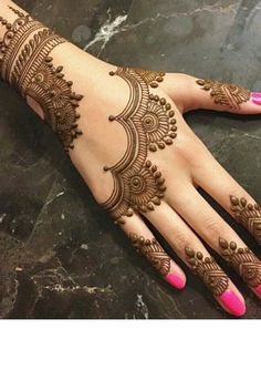 Henna Tattoo Designs Simple, Mehndi Designs Book, Finger Henna Designs, Full Hand Mehndi Designs, Mehndi Designs 2018, Mehndi Designs For Girls, Mehndi Designs For Beginners, Modern Mehndi Designs, Mehndi Design Photos