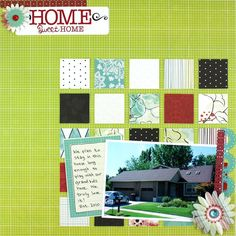 Home Sweet Home Enchanted #Scrapbooking Layout from Creative Memories    www.creativememor...